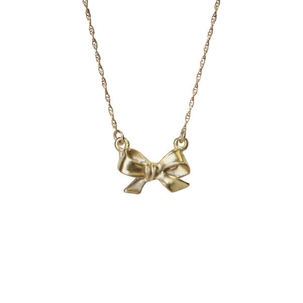 Tiny Bow Necklace