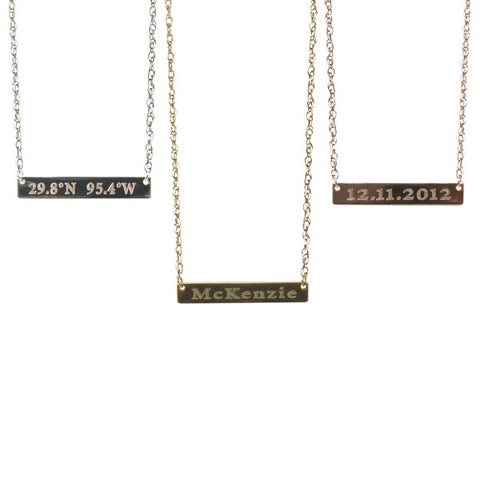 Nameplate Necklace | 14-Karat