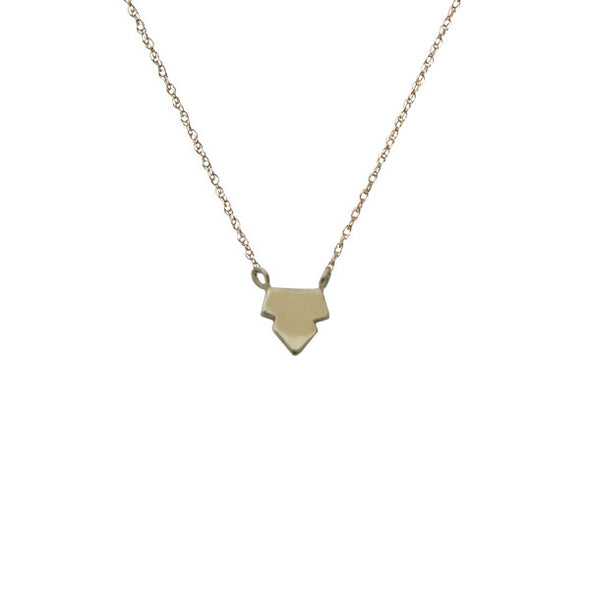 Tiny Arrowhead Necklace | 14-Karat