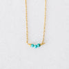 Turquoise Splash Bar Necklace for Baby and Child