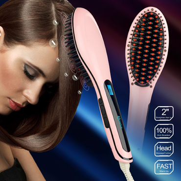 Apalus Brush Hair Straightener Detangling Hair Brush