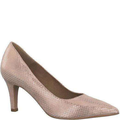 Court Shoe Pointed Toe Mid Heel Tamaris Rose Metallic