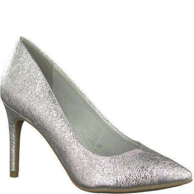 Court Shoe Pointed Toe High Heel Tamaris Metallic Silver