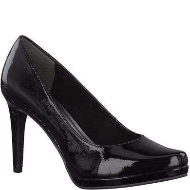 Court Shoe Pointed Toe High Heel Tamaris Patent Black