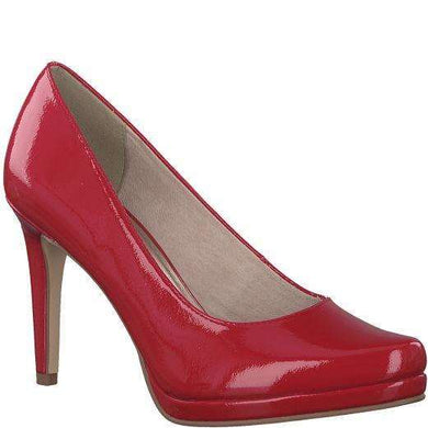 Court Shoe Pointed Toe High Heel Tamaris Patent Chili