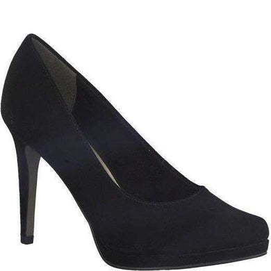 Court Shoe High Heel Suede Tamaris Black