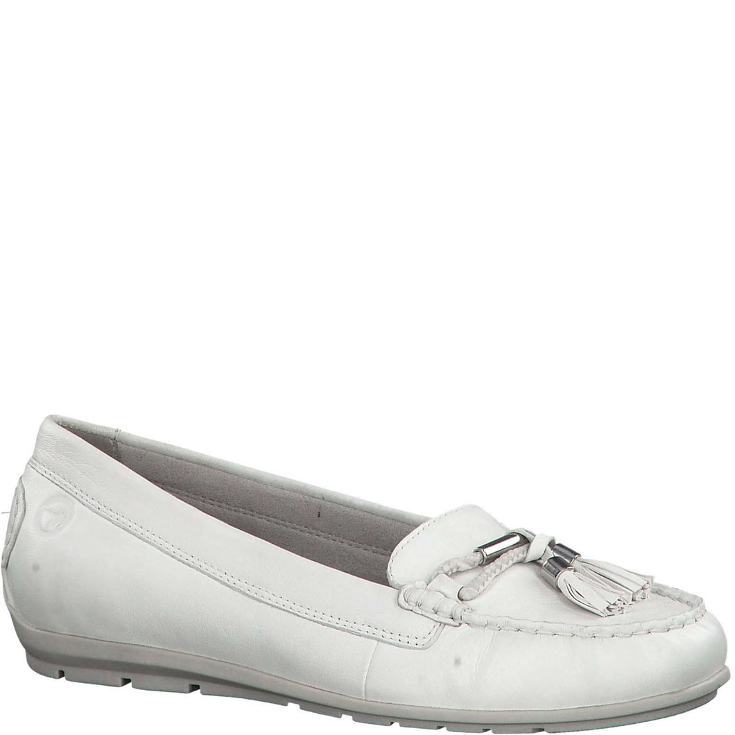 Loafer Leather With Tassel Tamaris White