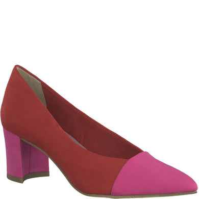 Court Shoe Pointed Toe Marco Tozzi Red/Pink