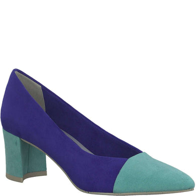 Court Shoe Pointed Toe Marco Tozzi Ryoal Blue/Turquoise