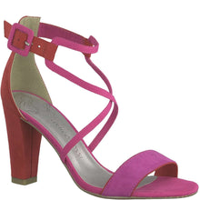 Sandal Ankle Strap Block Heel Marco Tozzi Pink