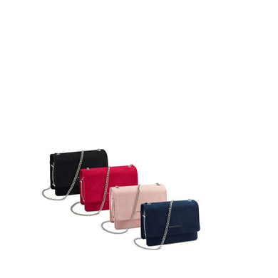 Marco-Tozzi Chain Evening Bag Faux Suede (3 Colours)