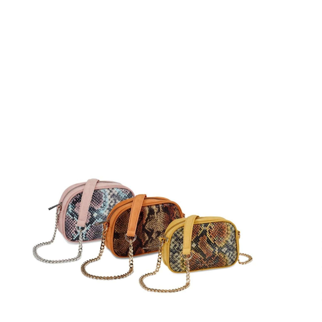 Marco-Tozzi Chain Evening Bag Small Coloured Detail Snake (3 Colours)