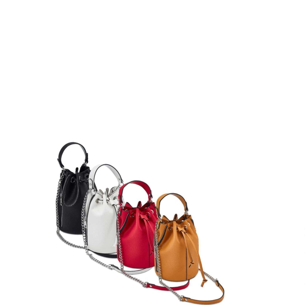 Marco-Tozzi Pull Chain Fastening Coloured Detail Bag (4 Colours)