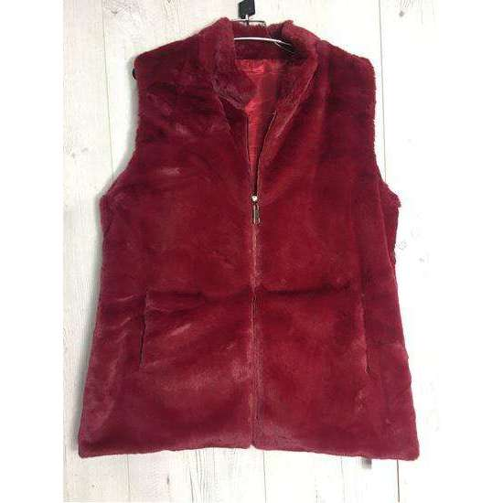 Gilet Faux Fur Zip Up (2 Colours)