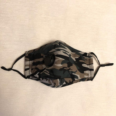 Face Mask Filter Camouflage Green