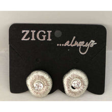 Zigi - Circular Stud With Crystal (2 Colours)