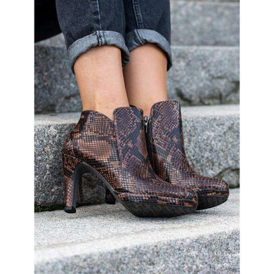 Boot Ankle High Heel Cut Side Tamaris Terra Snake