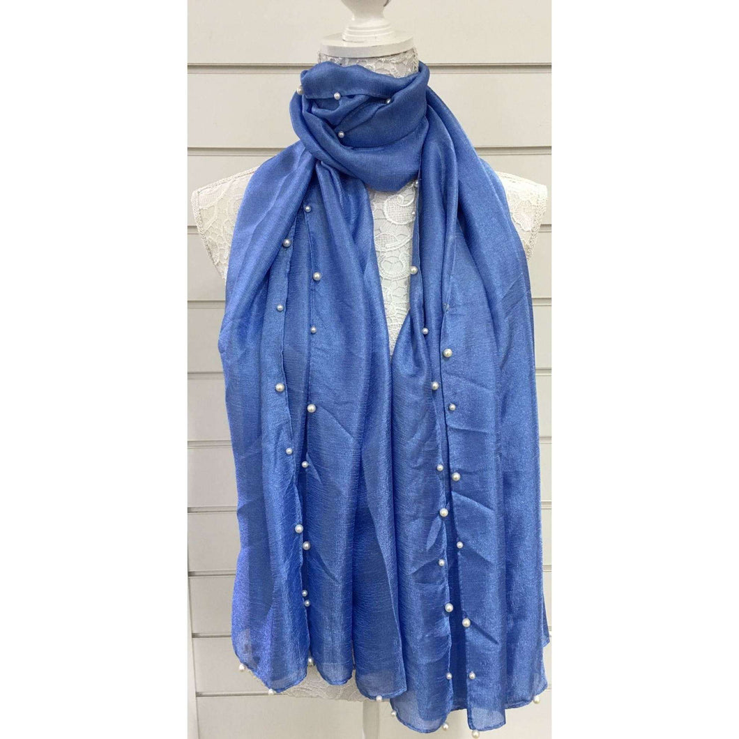 Missy Pearl Edged Scarf/Wrap (2 Colours)