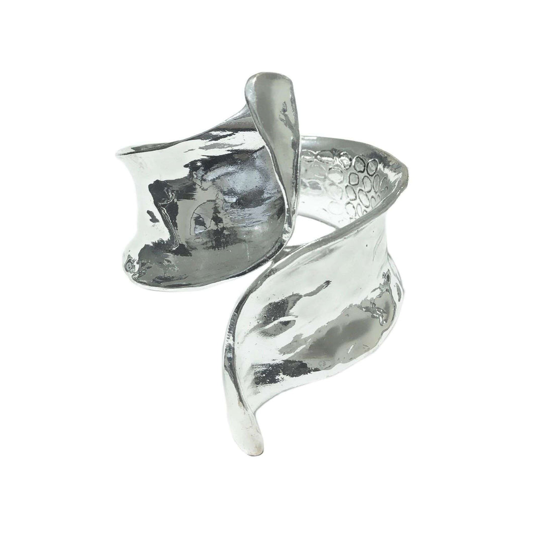 Love The Links Soraya Silver-Tone Dramatic Cuff Bracelet