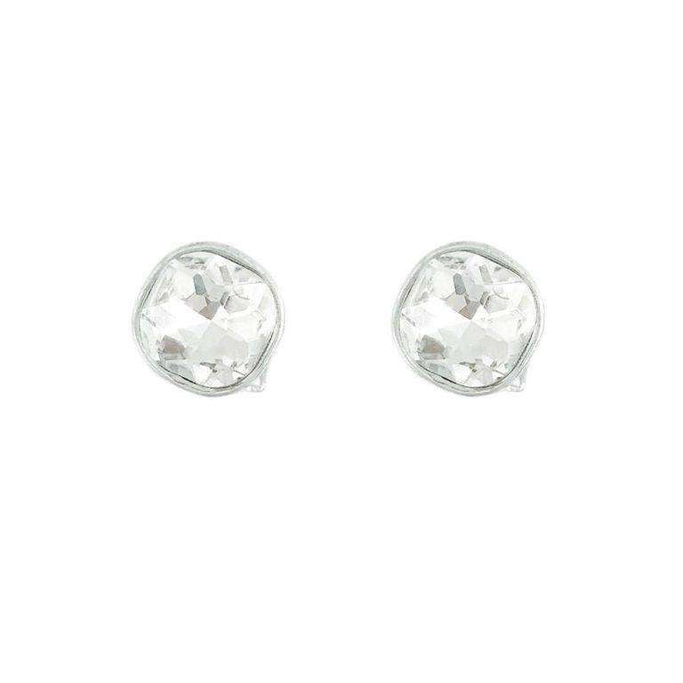 Love The Link Sì Crystal Glow Clip Earrings In Silver
