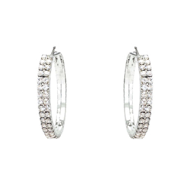 Love The Links Radiant Crystal Hoop Earrings