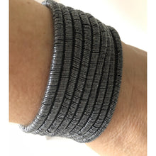 pewter magnetic fastener style bracelet/cuff