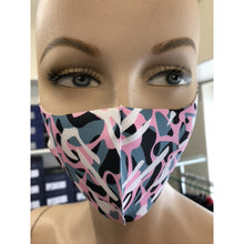 Pink/Grey Camouflage Face Mask