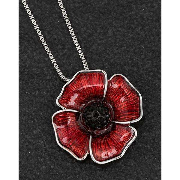 Equilibrium Delicate Small Poppy Necklace
