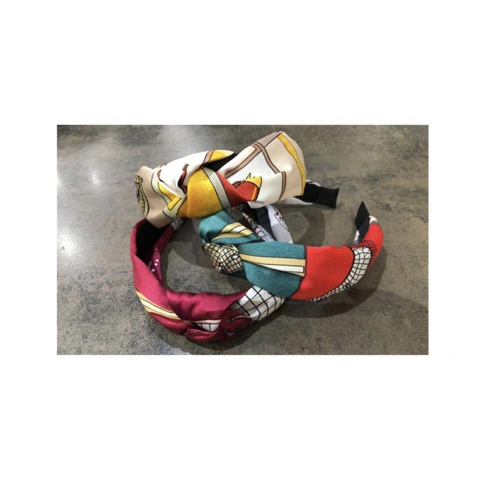 Headband Silk Patterned fabric (3 Colours)