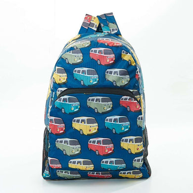 Eco Chic Foldable Backpack Camper Van Teal