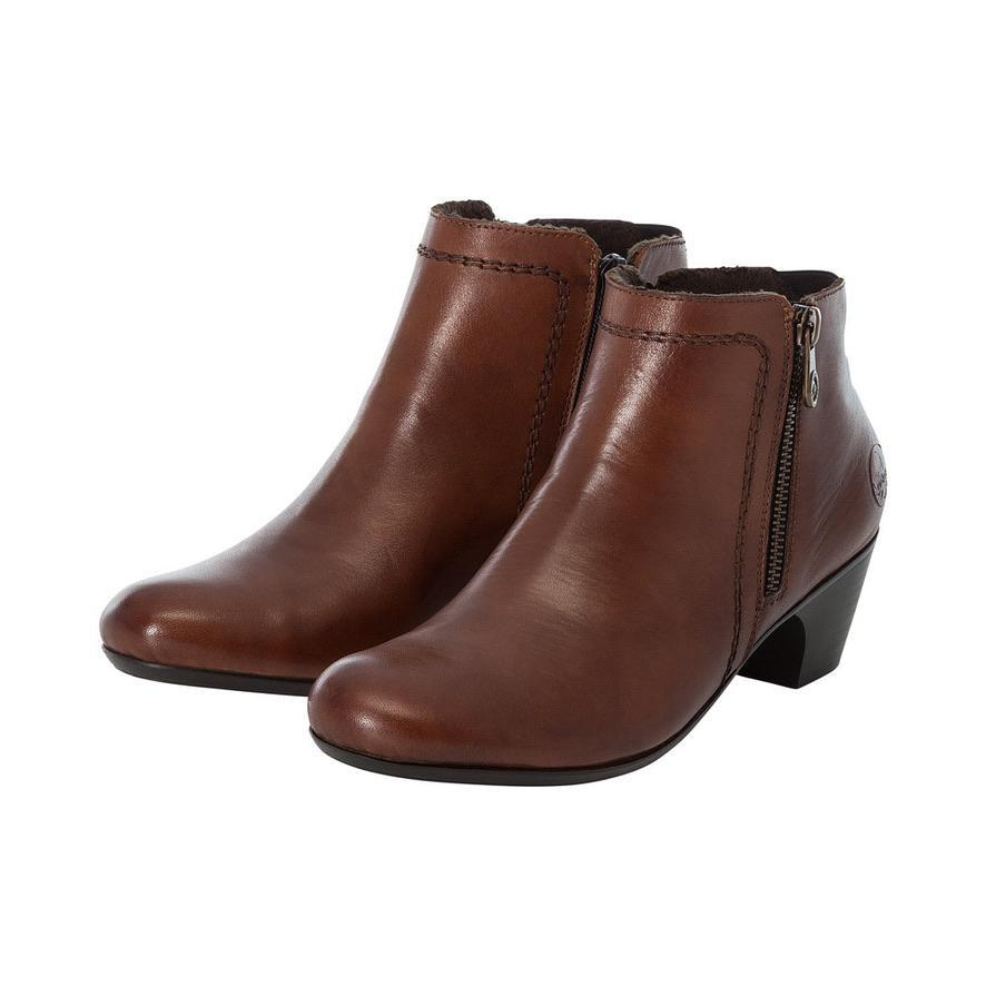 Rieker Ladies Boots Brown/Tan Leather