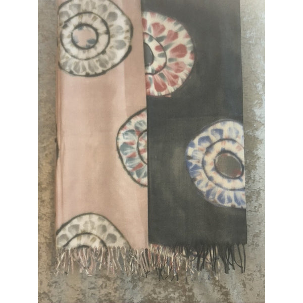 Tie Dye Detail Soft Scarf (2 Colours)