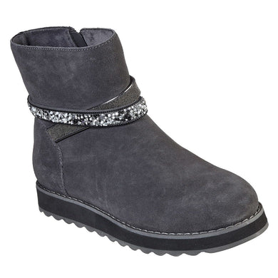 Skechers  Keepsakes 2.0 - Dazzler Gal Zip Up Water Repellent Ankle Boot Grey