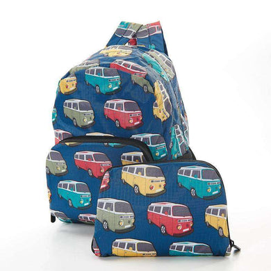 Eco Chic Foldable Mini Backpack Camper Van (2 Colours)