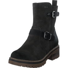 Rieker Ladies Water Repellent Charcoal Zip Up Ankle Boots