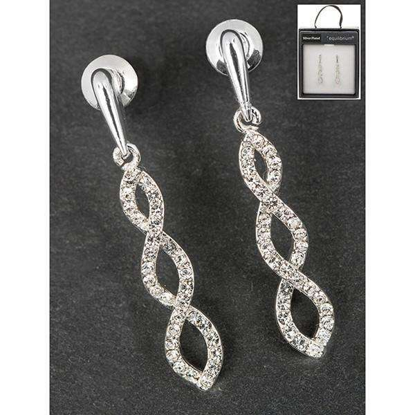 Equilibrium Twisted Diamante Earrings