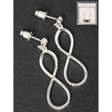 Equilibrium Dangly Infinity Earrings