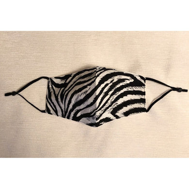 Face Mask Zebra Print Black and White
