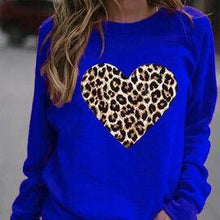 Sweatshirt Animal Print Love Heart (2 colours)