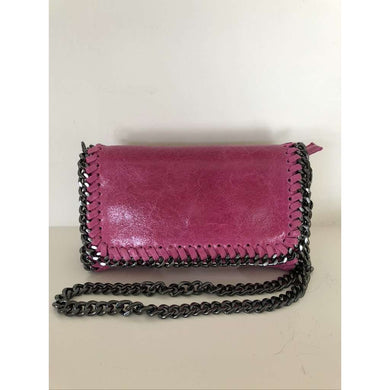 Leather Chain Cross Body Bag