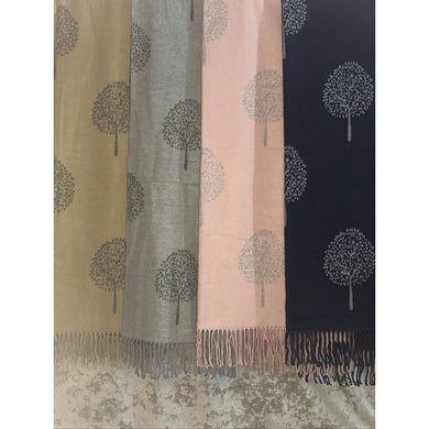 Reversible Designer Inspired Tree Scarf (4 Colours)