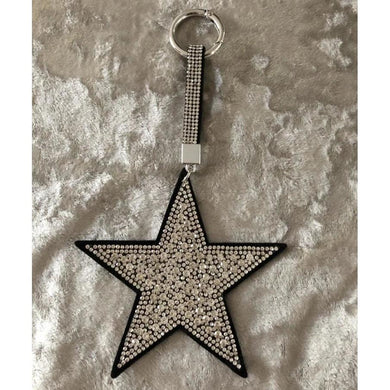 Key Ring/Bag Charm Diamante Star