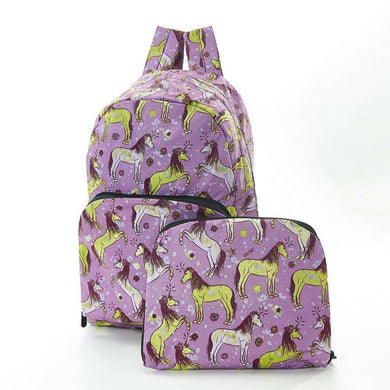Eco Chic Foldable Backpack Unicorn (2 Colours)