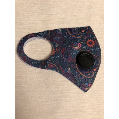 Face Mask Paisley Print teal