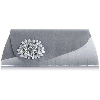 Lunar Sabrina Silver Matching Clutch Bag