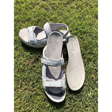 Sandal Walking Velcro Strap Removable Insole Remonte Silver