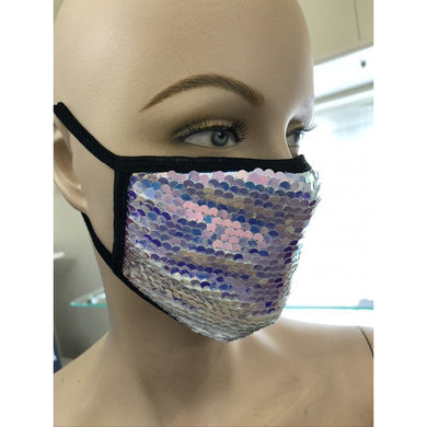 Silver Sequins Face Mask