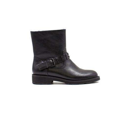 Mid Calf Boot Strap Detail Keddo Black