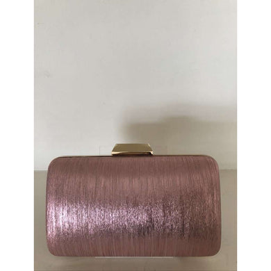 Pink/Rose Gold Simmer Box Clutch
