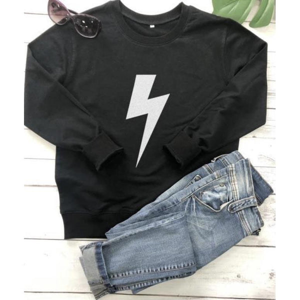 Sweatshirt Silver Lightning Bolt (2 colours)